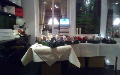 Unser Verkaufsstand im Berghotel Astenkrone